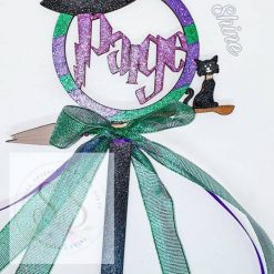 Personalised Halloween witch wand