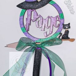 Personalised Halloween witch wand 3