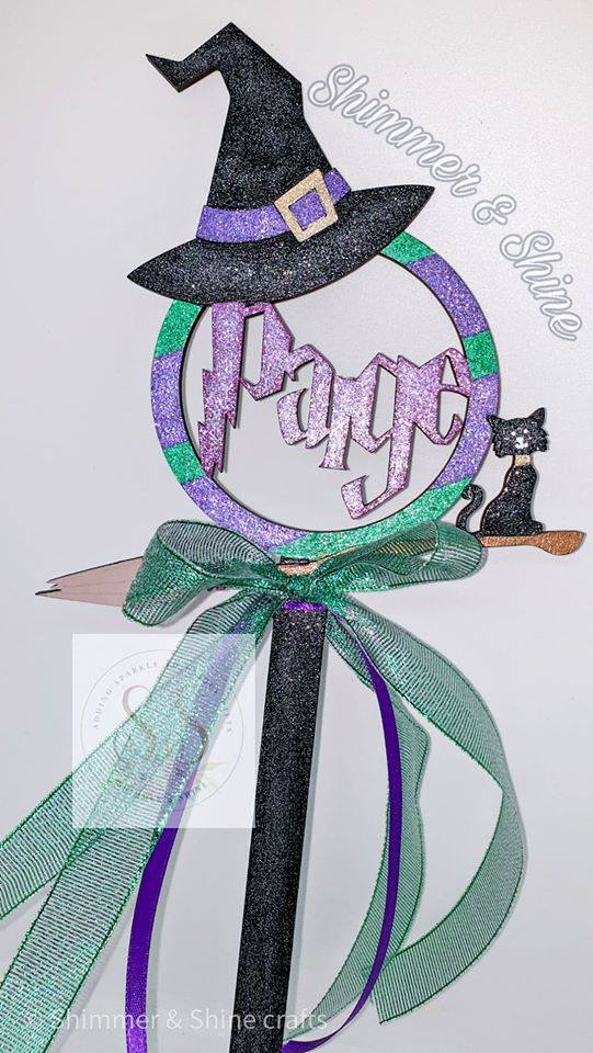 Personalised Halloween witch wand 2