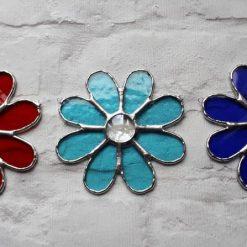 Stained glass rainbow daisy suncatcher 9