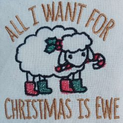 Christmas animal puns embroidered Cotton Tote Bags 12