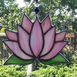 Stained glass Lotus flower / Waterlily suncatcher 11