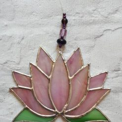 Stained glass Lotus flower / Waterlily suncatcher 10