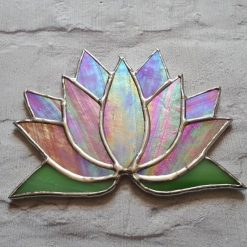 Stained glass Lotus flower / Waterlily suncatcher 8