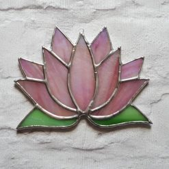 Stained glass Lotus flower / Waterlily suncatcher 7