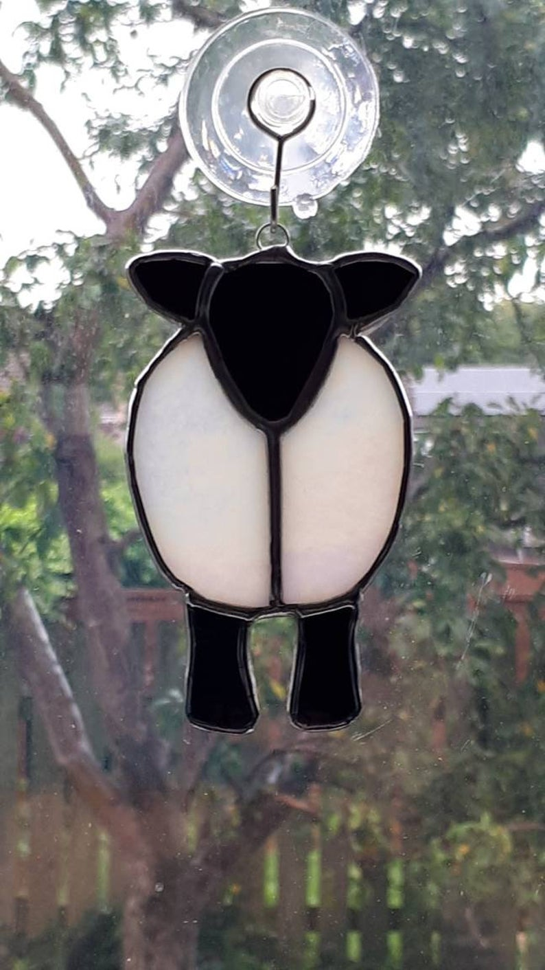 Stained glass sheep suncatcher 6