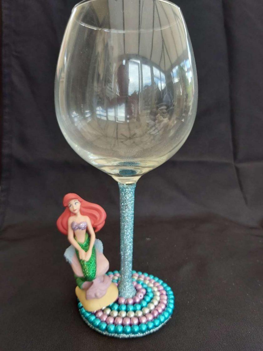 Ariel 'Little mermaid' wine glass 1
