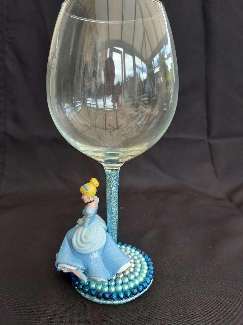 Cinderella wine glass 1