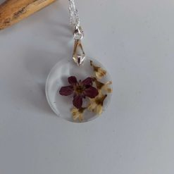 Handcrafted Floral resin pendent/ necklace (Copy) (Copy) 4