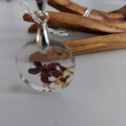 Handcrafted Floral resin pendent/ necklace (Copy) (Copy) 5