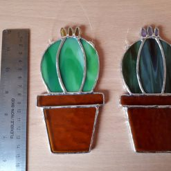 Stained glass cactus suncatchers 16