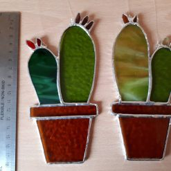 Stained glass cactus suncatchers 15