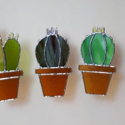 Stained glass cactus suncatchers 11