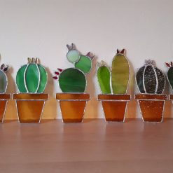 Stained glass cactus suncatchers 10