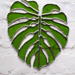Stained glass Monstera Leaf / Swiss Cheese Plant Suncatcher 10