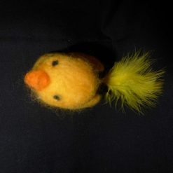 Hand Needle felted Duck with Feather Tail 5