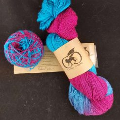 4ply hand-dyed sock yarn 100g skein - Blue Faced Leicester by Chimera Crafting