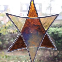 Stained glass Star suncatchers - Christmas tree decorations - Star of David 13