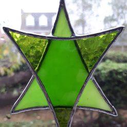 Stained glass Star suncatchers - Christmas tree decorations - Star of David 12