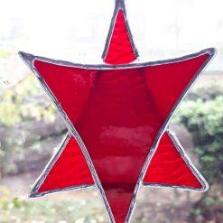 Stained glass Star suncatchers - Christmas tree decorations - Star of David 11