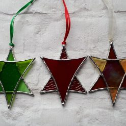 Stained glass Star suncatchers - Christmas tree decorations - Star of David 10