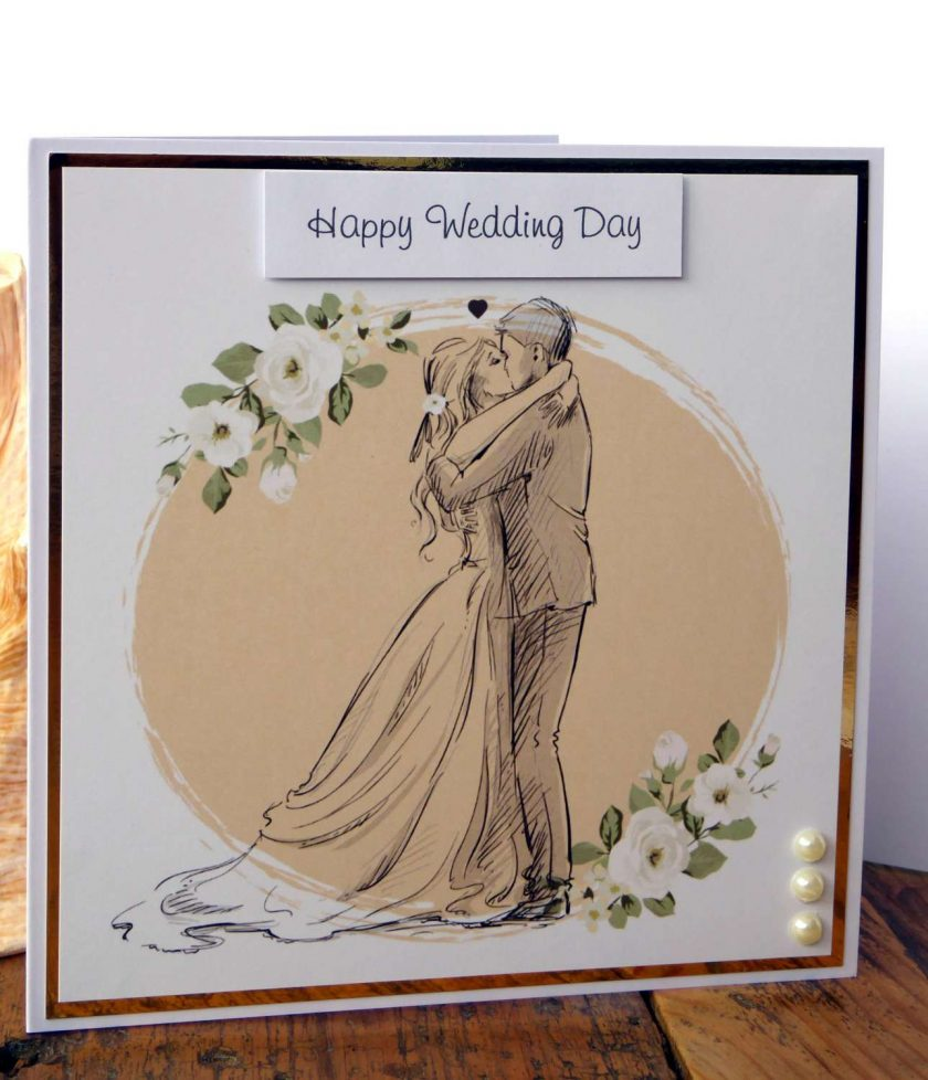 C3486 - Happy Wedding Day Card 3