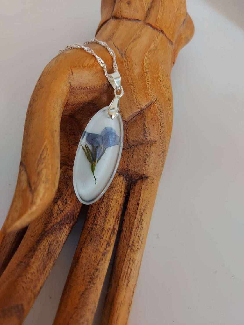 Handcrafted Floral resin pendent/ necklace (Copy) 1