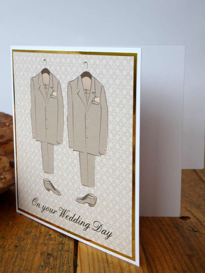 C3484 -Male - On your Wedding Day Card 4