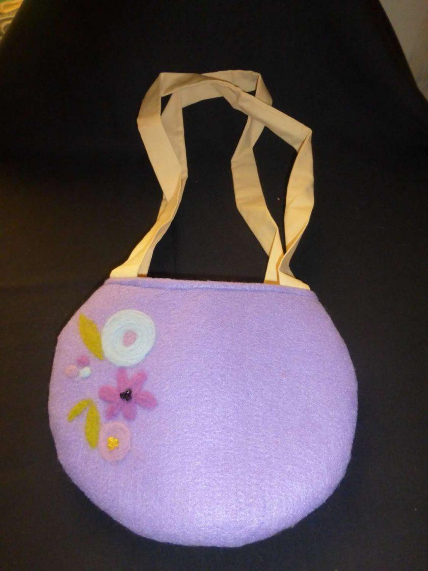 Ladies Handbag Hand Needle Felted Decoration 1
