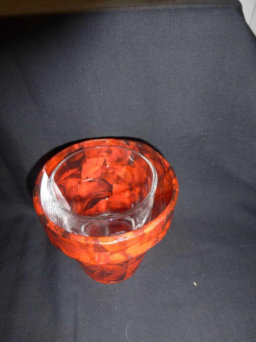 Decorative Decopatch Flower Pot 3