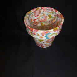 Decorative Decopatch Flower Pot 4