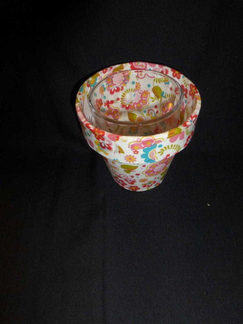 Decorative Decopatch Flower Pot 2