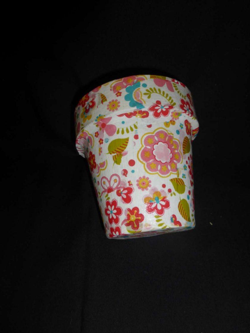 Decorative Decopatch Flower Pot 1