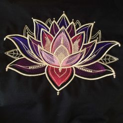 Gilded Lotus Cushion Handmade 11