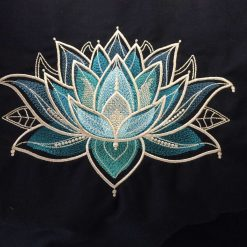 Gilded Lotus Cushion Handmade 13