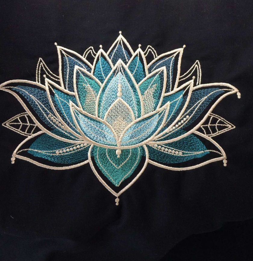 Gilded Lotus Cushion Handmade 7