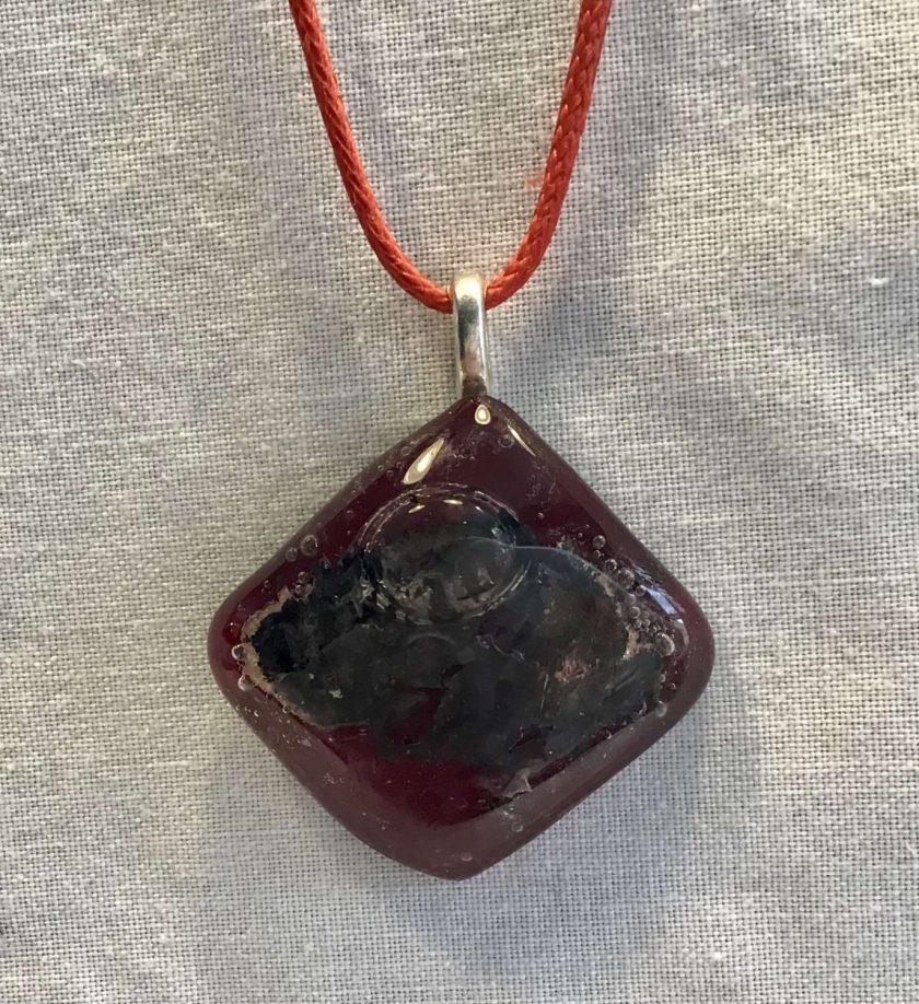 Original fused glass necklace 1