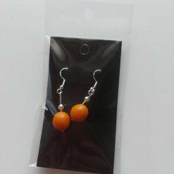 Polymer clay earrings orange (Copy)