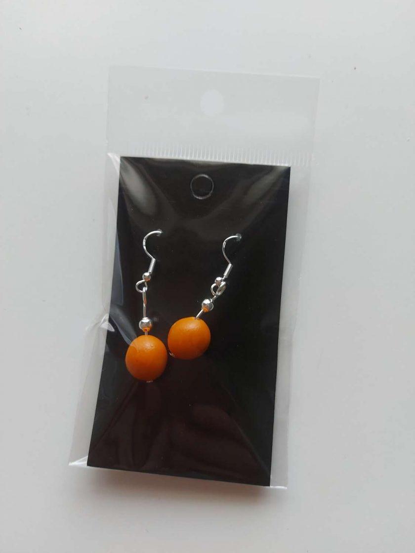 Polymer clay earrings mustard 1