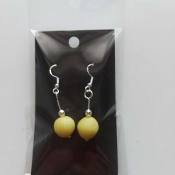 Polymer clay earrings light yellow