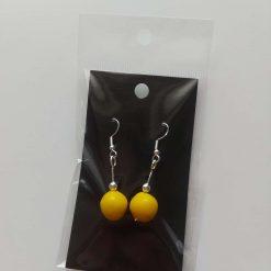 Polymer clay earrings yellow