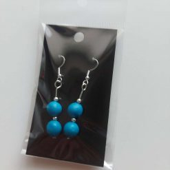 Polymer clay earrings turquoise