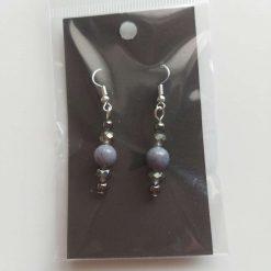 Grey gemstone earrings 5