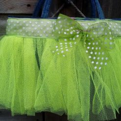 Kids Handbag (from recycled jeans) Tutu with Bow Fully Lined Bag Gift FREE UK POSTAGE 7