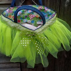 Kids Handbag (from recycled jeans) Tutu with Bow Fully Lined Bag Gift FREE UK POSTAGE 8