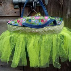 Kids Handbag (from recycled jeans) Tutu with Bow Fully Lined Bag Gift FREE UK POSTAGE 9