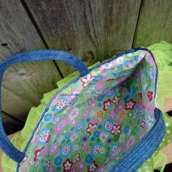 Kids Handbag (from recycled jeans) Tutu with Bow Fully Lined Bag Gift FREE UK POSTAGE 10