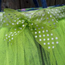 Kids Handbag (from recycled jeans) Tutu with Bow Fully Lined Bag Gift FREE UK POSTAGE 11