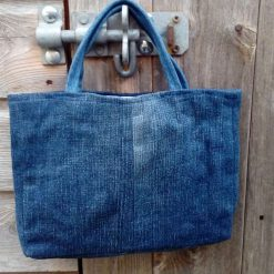 Kids Handbag (from recycled jeans) Applique Flower Fully Lined Bag Gift Tote FREE UK POSTAGE 7