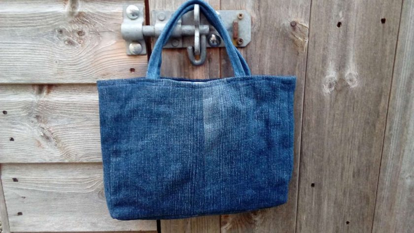 Kids Handbag (from recycled jeans) Applique Flower Fully Lined Bag Gift Tote FREE UK POSTAGE 4